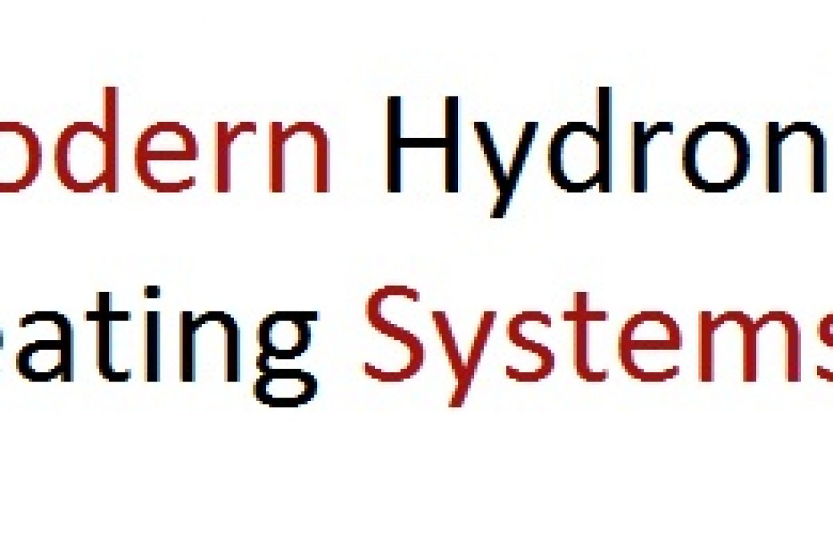 Modern Hydronic Heating Systems