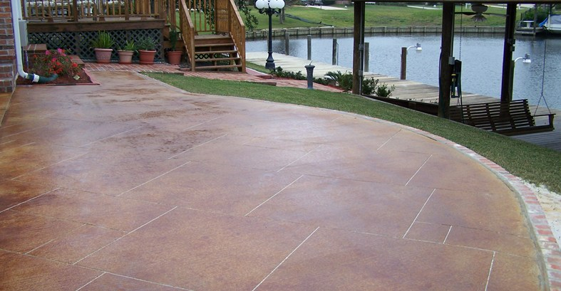 concrete patio stain