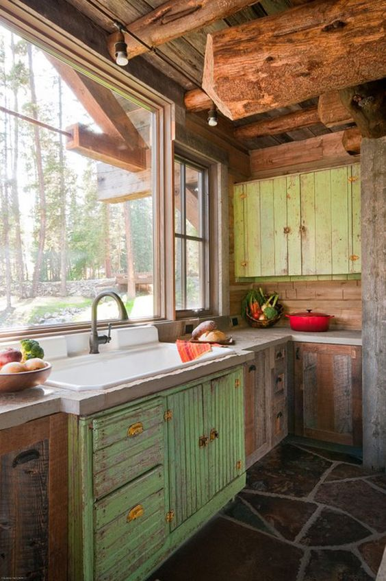 kitchen-cabinets-reclaimed-materials
