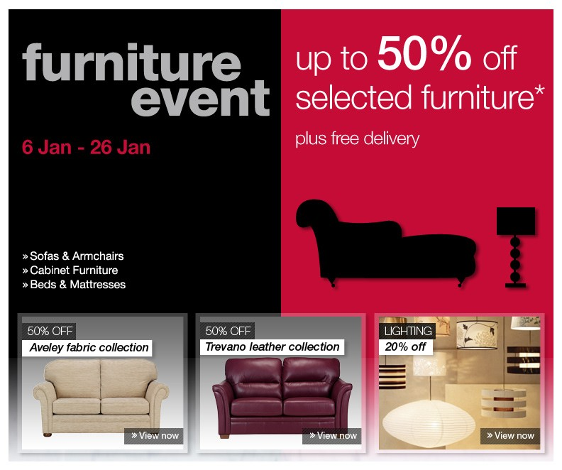 january furniture sales