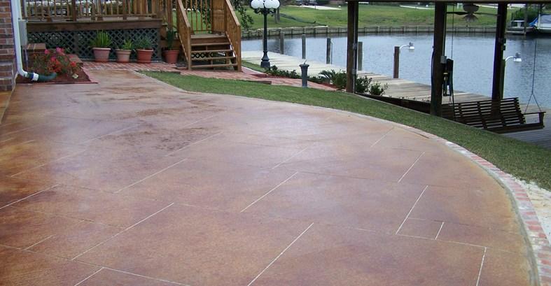 concrete patio stain